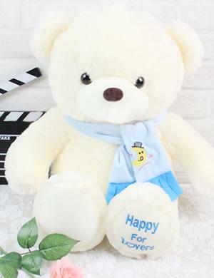 围巾泰迪熊(蓝色)
