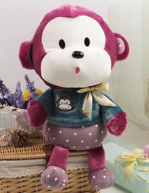 可爱小猴子(紫红色)【缺货下架】