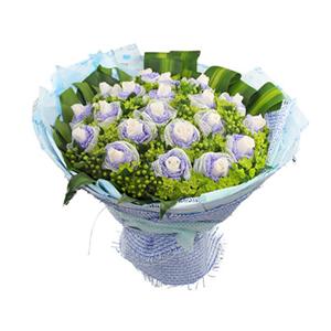 鲜花/你最珍贵 : 白玫瑰21支  [包 装]:玫瑰2层独立包装