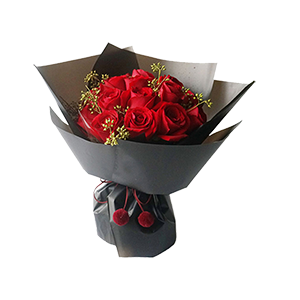 鮮花/絕代佳人:16支精品紅玫瑰 花 語:北方有佳人
