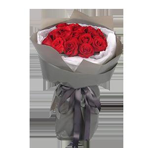 鮮花/王妃:19枝昆明A級紅玫瑰 花 語:美的熱烈愛的濃烈,愿