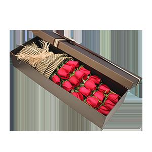 鮮花/守護愛情:19枝玫瑰 花 語:愛你一生一世