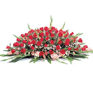 商业用花/年年有余:红玫瑰 高级配花 花 语:
