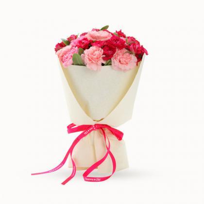 鲜花/天天开心: 21枝多色康乃馨(包括粉色,桃红色)  [包