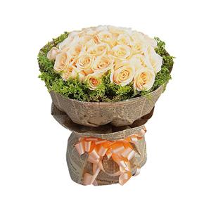 鮮花/牽手:33朵香檳玫瑰  黃鶯圍繞 花 語:牽了你的手,就