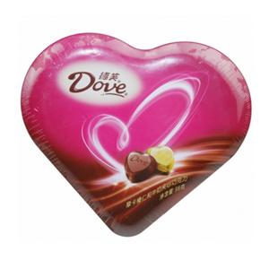巧克力/德芙心語: 德芙心語禮盒98g  [包 裝]:德芙心型禮