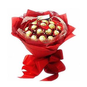 巧克力/熱情: 15顆金裝巧克力  [包 裝]:大紅色皺紋紙