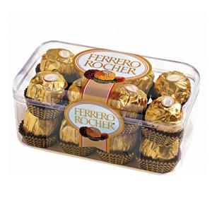巧克力/费列罗T16 : 费列罗巧克力16粒装,净含量200G  [包