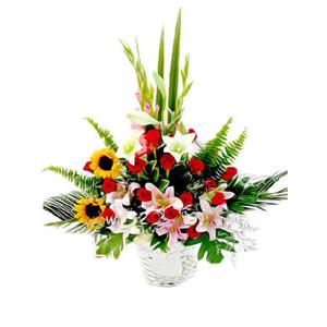 鲜花/阳光总在风雨后: 2枝向日葵(向日葵会季节性花材没有会用太阳花代