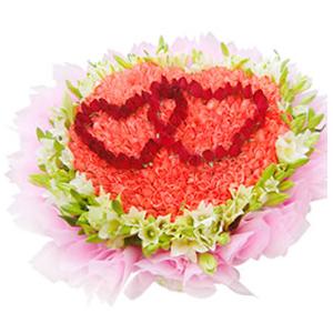鲜花/爱你的365天:365枝玫瑰(中间红玫瑰包含在内),40枝白百合