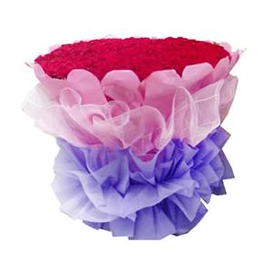 鮮花/愛你365天:365枝紅玫瑰 包 裝:粉色皺紋紙圓形精美包裝,粉