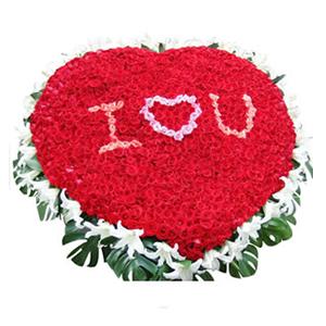 鲜花/I LOVE YOU:999枝红玫瑰(中间桃红玫瑰和粉玫瑰包含在内),