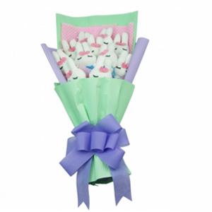 卡通花束/爱情如蜜(卡通花束): 11枝米菲兔独立包装(总部统一快递发货,3-7