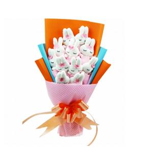 卡通花束/让爱靠近(卡通花束): 11枝米菲兔独立包装(总部统一快递发货,3-7
