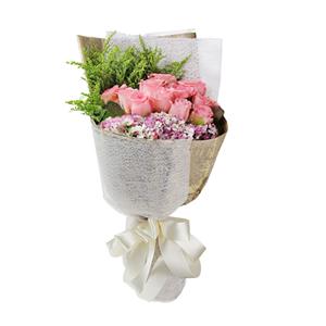 鲜花/岁月温柔: 11支戴安娜玫瑰单包。  [包 装]:复古英