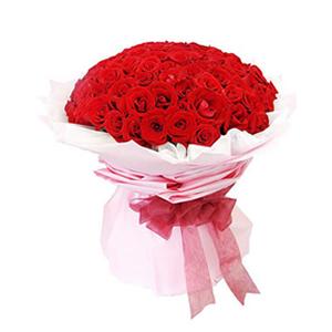 鲜花/最好的爱情/99枝红玫瑰: 99枝精品红玫瑰  [包 装]:白色绵纸内衬