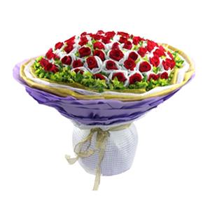 鲜花/不变的诺言: 66枝红玫瑰单独包装  [包 装]:三层不同
