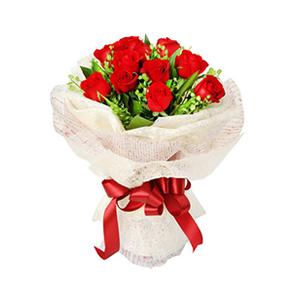 鲜花/爱是魔药: 11枝红玫瑰  [包 装]:乳黄色绵纸、印字