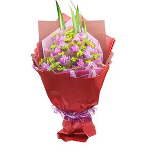 鲜花/粉色的思念: 19朵紫玫瑰精美独立包装(紫色玫瑰需要提前预定
