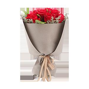 鲜花/我最亲爱的: 21枝精品玫瑰  [包 装]:高档纸保证,赠
