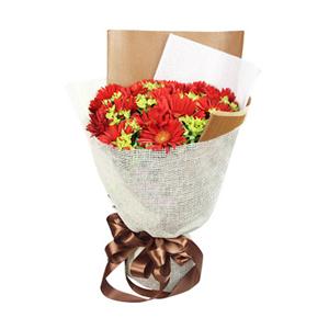 鲜花/爸爸的爱: 19枝精选红色扶郎  [包 装]:高档雾面纸