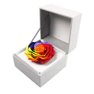 鲜花/【巨型永生花】七彩永生玫瑰: 厄瓜多尔巨型永生七彩玫瑰,直径9cm-10cm
