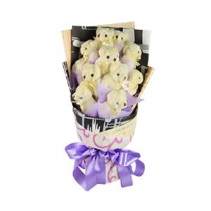 卡通花束/贝克街的报摊(卡通花束): 11只维尼熊独立包装。  [包 装]:复古英