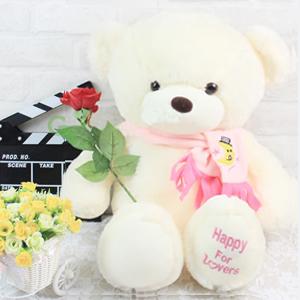 毛絨玩具/圍巾泰迪熊(粉色): 外部高檔超柔軟毛絨,內部優質PP棉,手感細膩蓬