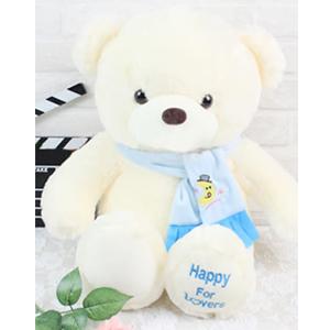 毛绒玩具/围巾泰迪熊(蓝色): 外部高档超柔软毛绒,内部优质PP棉,手感细腻蓬