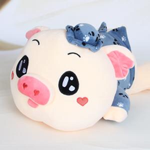 毛绒玩具/佩佩猪(蓝色): 纯棉亲肤绒布,高弹pp面填充(总部快递发货)