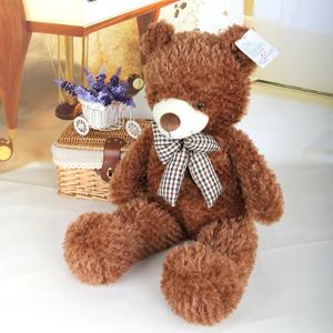 毛绒玩具/格子蝴蝶泰迪熊: 外部超柔软毛绒,内部优质PP棉。  [包 装
