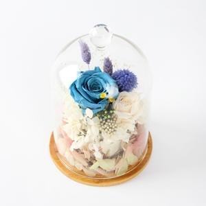 鲜花/诗与远方: 厄瓜多尔进口永生蓝色妖姬1支, 日本奥斯汀香槟