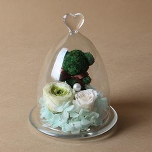 鲜花/幸运熊: 厄瓜多尔进口永生绿玫瑰1枝,  厄瓜多尔进口永