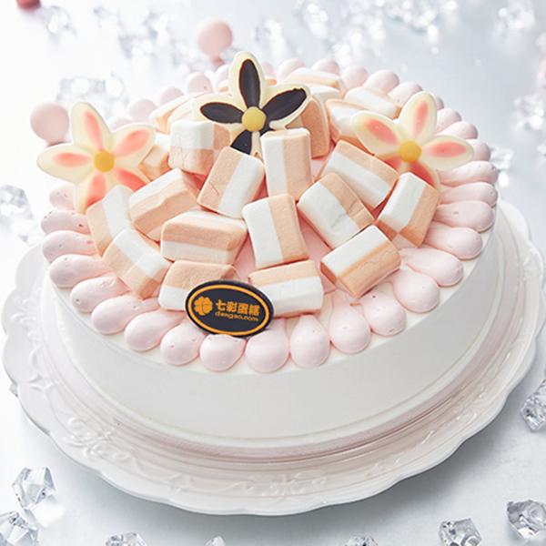 蛋糕/粉色童话:甜蜜鲜奶搭配柔软棉花糖铺面 祝 愿:营造最美丽的童
