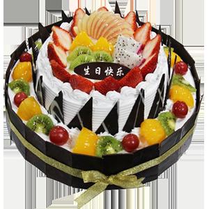 蛋糕/甜蜜堡壘:超過水果鋪面+巧克力貼片 祝 愿:用心呵護你,用愛