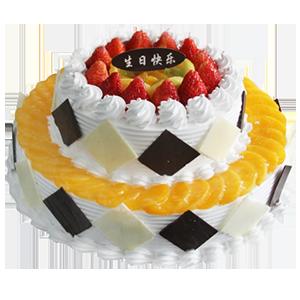蛋糕/稳稳地幸福:水果围边铺面+巧克力片贴边,美味鲜奶制作 祝 愿:
