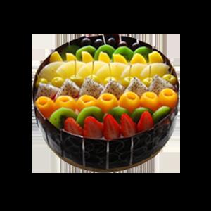 蛋糕/美麗新世界:超多美味水果+巧克力貼片。鮮奶口味 祝 愿:美麗世
