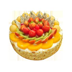 蛋糕/今天你要嫁給我:美味鮮奶搭配超多水果 祝 愿:愛你在每一個陽光明媚
