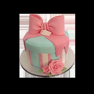 蛋糕/【翻糖蛋糕】米妮的蝴蝶结:鲜奶鸡蛋胚+别致翻糖造型 祝 愿:幸福的礼盒送给你