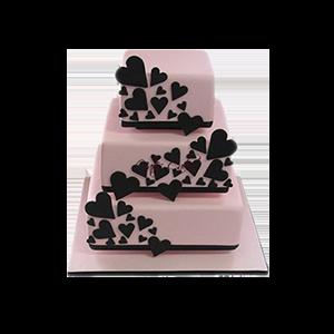 蛋糕/【翻糖蛋糕】慕时:鲜奶鸡蛋胚+时尚翻糖造型 祝 愿:旖旎前行,温馨浪