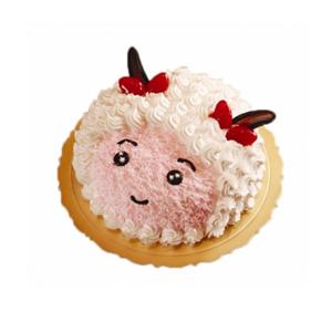蛋糕/美羊羊: 美羊羊形状鲜奶蛋糕  [包 装]:购买蛋糕附