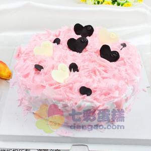 蛋糕/粉色甜心:鮮奶雞蛋胚+巧克力裝飾 祝 愿:在這陽光明媚的日子