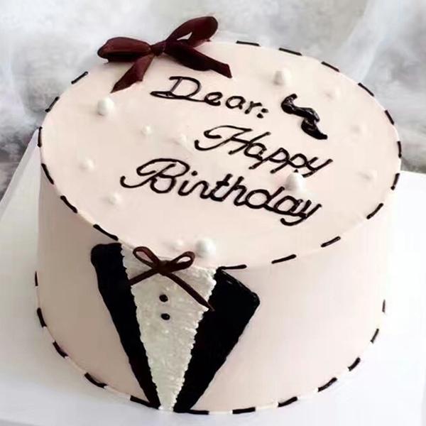 蛋糕/Mr.Right:优质淡奶油简约蛋糕 祝 愿:你就是我的MR.rig