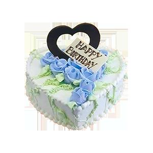 蛋糕/蓝色爱恋:新鲜牛奶+清新裱花 祝 愿:蓝色之恋,纯洁无瑕