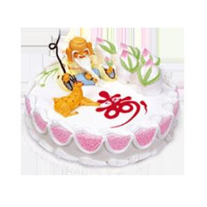 蛋糕/福壽綿長:優質奶油+立體壽星公 祝 愿:福氣洋溢,長壽安康