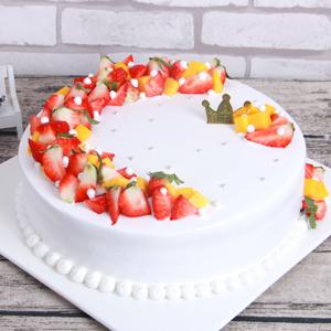蛋糕/节日花环:鲜奶原料,时令水果环形铺面 祝 愿:在这个美丽的日