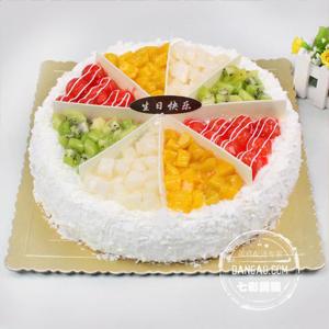 蛋糕/生日祝愿:鲜奶鸡蛋胚+新鲜时令水果 祝 愿:愿你所求皆如愿,