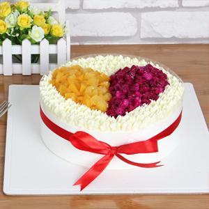 蛋糕/愿得一人心: 新鲜奶油,时令水果,鸡蛋牛奶水果夹层胚  [