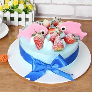 蛋糕/双鱼座专属蛋糕:新鲜时令水果+个性巧克力片 祝 愿:愿一直守护你的