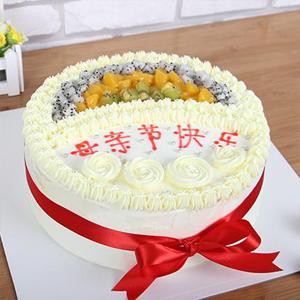 蛋糕/母親節快樂:鮮奶蛋糕搭配新鮮水果,中層水果夾層 祝 愿:母親節